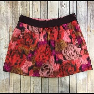 J. Crew Floral Abstract Skirt